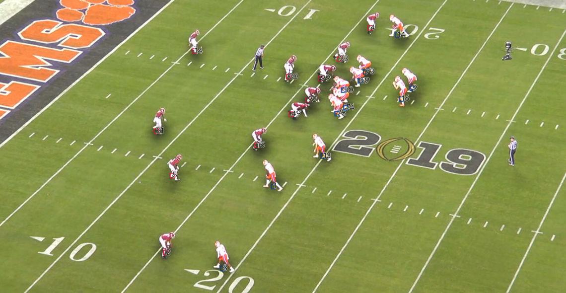 Optical Tracking Football Scenario NCAA